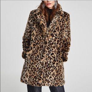 NWT cheetah fur coat